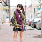 A Spring Mix | Hunter Green Jacket + Leopard Accents