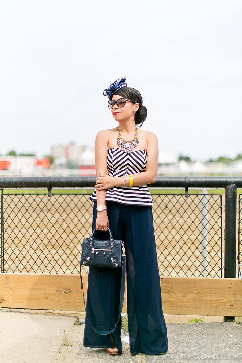 LaBelleMel_Friday_Preakness_Chevron_Peplum_Top_Palazzo_Pants_1