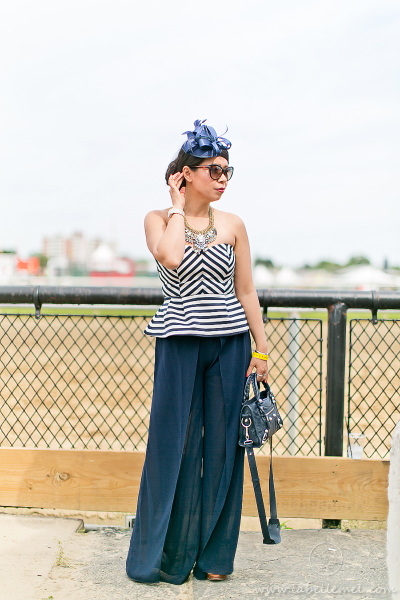LaBelleMel_Friday_Preakness_Chevron_Peplum_Top_Palazzo_Pants_2