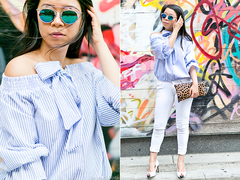 LaBelleMel_Memorial_Day_Mixed_Print_Striped_Off_Shoulder_White_Skinnies_2