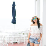 Chevy Volt Road-Tripping to Block Island | Lace Off-Shoulder Top + Cutoff Shorts