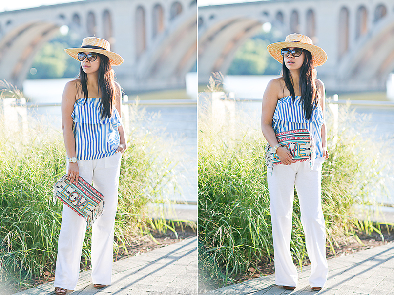 LaBelleMel_Last_Day_of_Summer_Striped_Sleeveless_Top_White_Linen_Pants_2