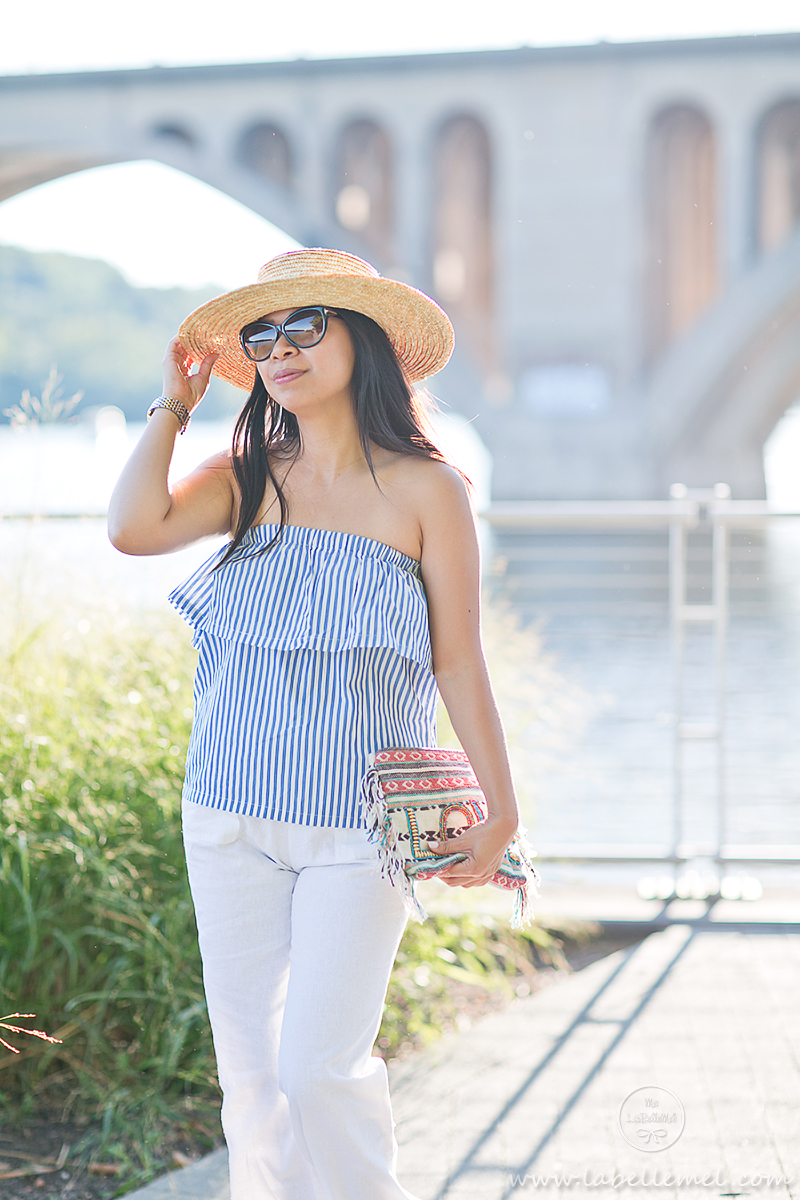 LaBelleMel_Last_Day_of_Summer_Striped_Sleeveless_Top_White_Linen_Pants_5