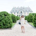 Oheka Castle   Blush-Draped Dress