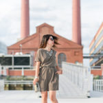 Falling for Autumn | Olive Green Asymmetrical Dress