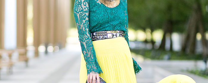 labellemel_jewel_tones_emerald_lace_top_citrine_maxi_skirt_1