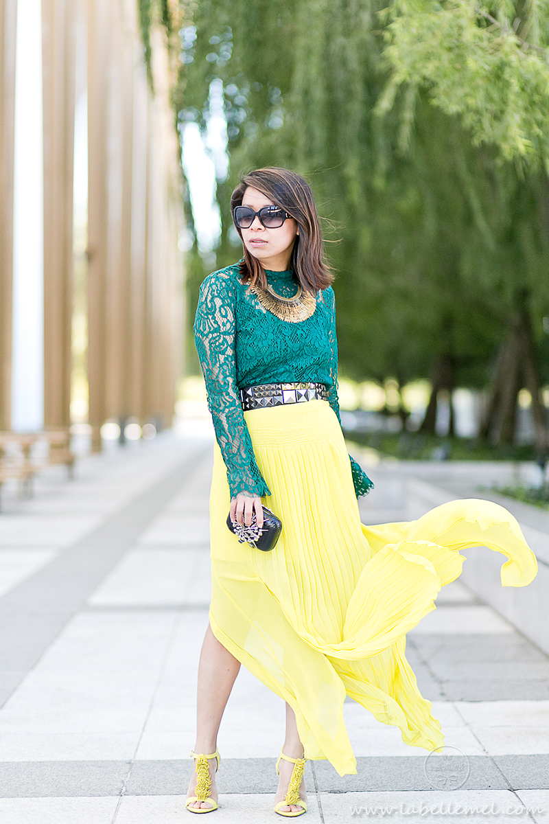 labellemel_jewel_tones_emerald_lace_top_citrine_maxi_skirt_1