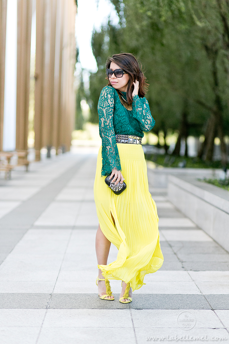 labellemel_jewel_tones_emerald_lace_top_citrine_maxi_skirt_2