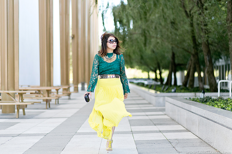 labellemel_jewel_tones_emerald_lace_top_citrine_maxi_skirt_3