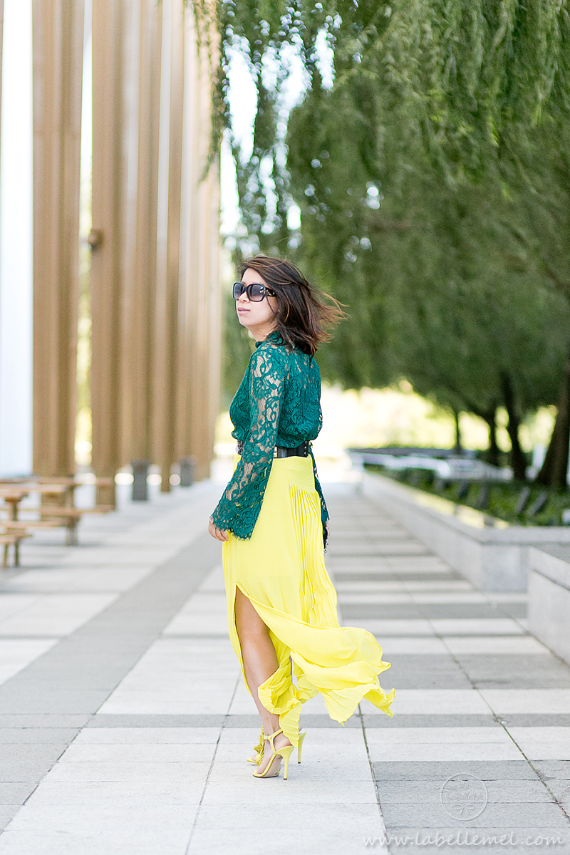 labellemel_jewel_tones_emerald_lace_top_citrine_maxi_skirt_7