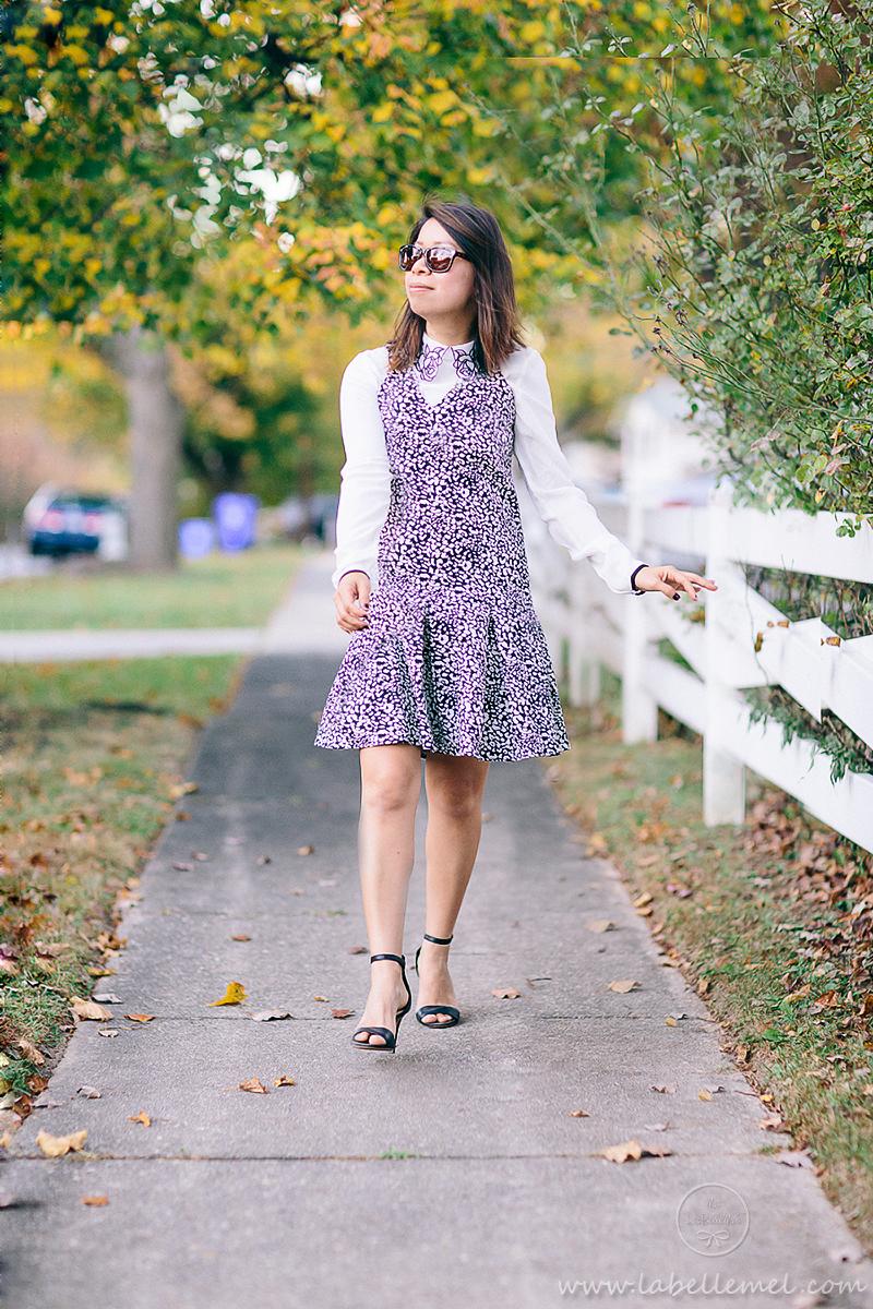 labellemel_housearming_sunday_leopard_drop_waist_dress_rose_collar_blouse_3