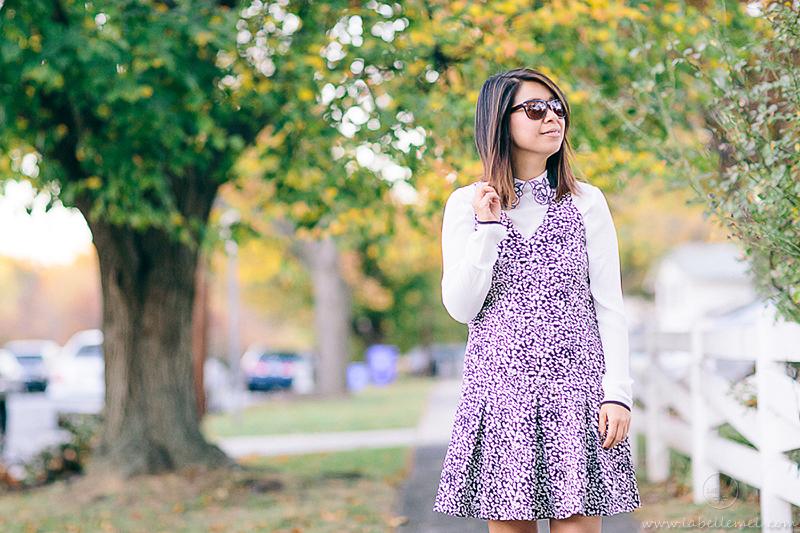 labellemel_housearming_sunday_leopard_drop_waist_dress_rose_collar_blouse_5