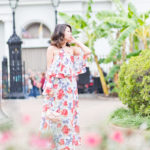 A NOLA Wedding | Cold-Shoulder Floral Maxi Dress