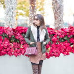 Holiday Cheer | Hunter Green Wool Blazer + Asymmetrical Skirt