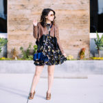 LA Winter | Mixed Media Jacket + Floral Dress