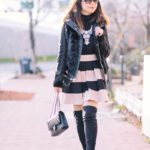 Winter to Spring Transition | Black + Blush