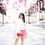 CityCenter DC Blossoms | Cold-Shoulder Top + Scuba Pleated Skirt
