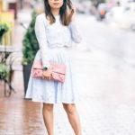 Bienvenue Ladurée à Georgetown DC | Pastel Blue Separates + Pink Accessory