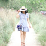 Austin Heat | Chambray Drop Waist Dress