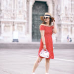 Touring Milano | Red Smock Dress + White Sneaks
