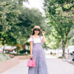 Dupont Circle | Puffy Sleeve Crop Top + Wide Leg Jumpsuit